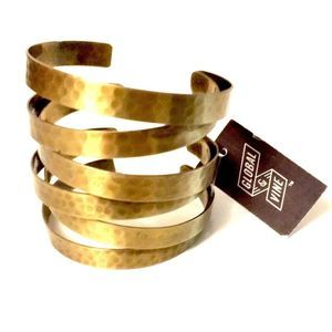 Global and Vine cuff bracelet NWT brass adjustable